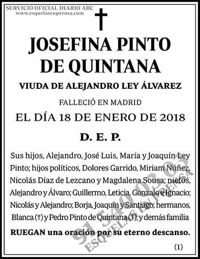Josefina Pinto de Quintana